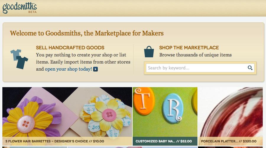 goodsmiths, siliconprairie, etsy, artifire, nibletz.com