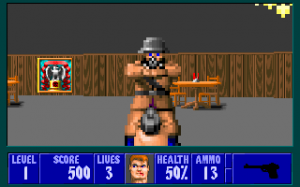 Screenshot from Wolfenstein 3D