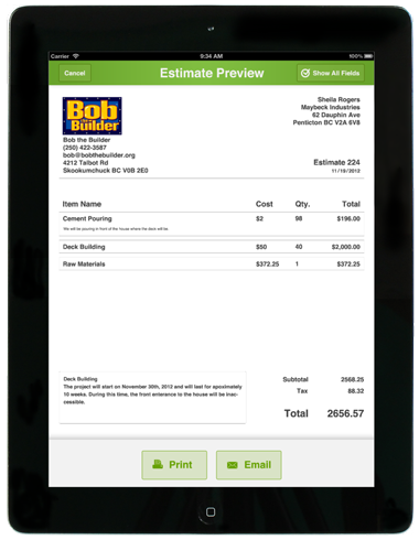 Joist Helps Contractors Be More Efficient On The Go Serious Startups - Joist invoice