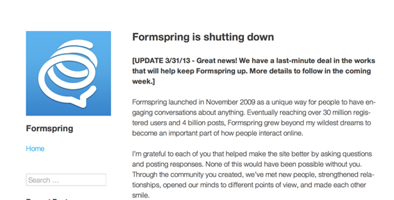 Formspring,Startup Tips, startups,startup news, Silicon Valley startup