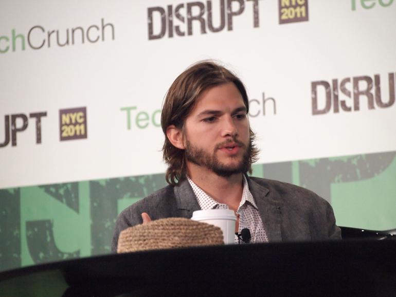 Ashton Kutcher,TechCrunch Disrupt,Disrupt NYC, Startup,aplusk