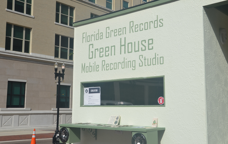 Florida Green Records, Bicycle Powered recording studio,startup,onespark
