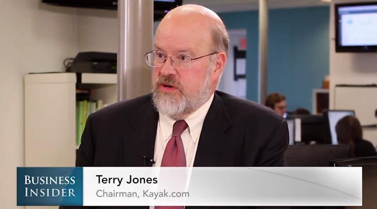 Kayak,Travelocity,Business Insider,Terry Jones, Nicholas Carlson, startup tips