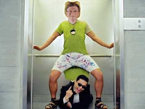 Bill Gates,Psy,Gangnam Style,Twitter,Polio