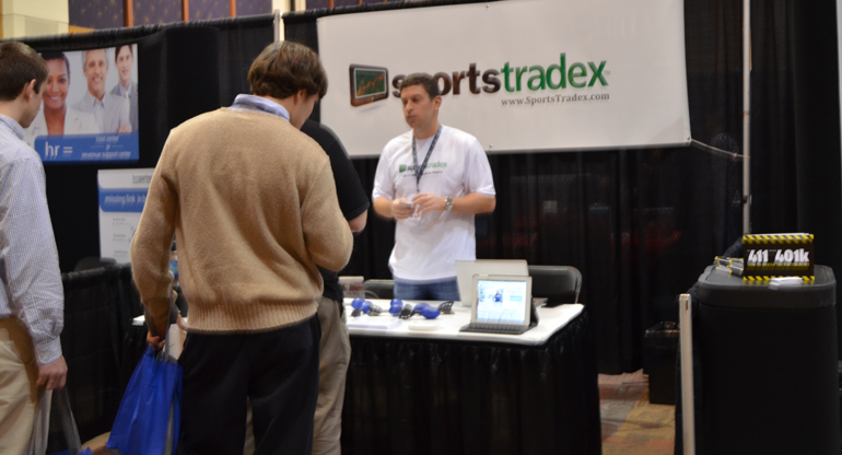 Startups from everywhereelse came including SportsTradex from Florida