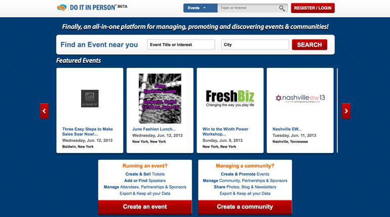 DoItInPerson, NY Startup, Event Startup,startups,startup interview