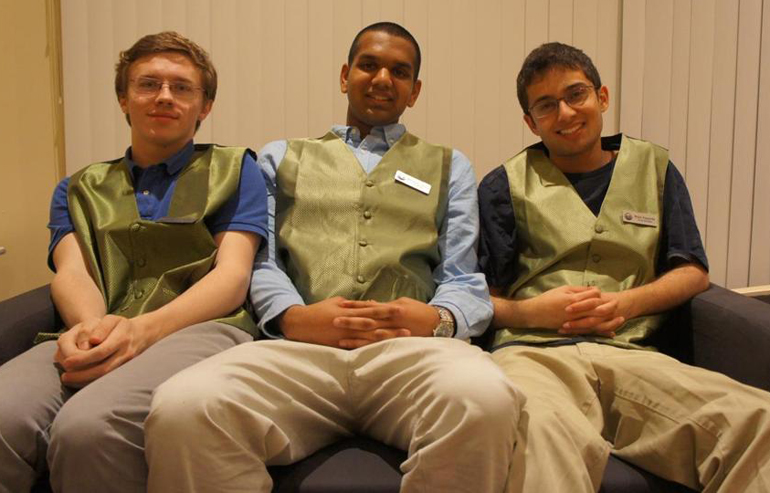 (flight car founders: Kevin Petrovic, Shri Ganeshram, Rujul Zaparde photo: bostonglobe.com)