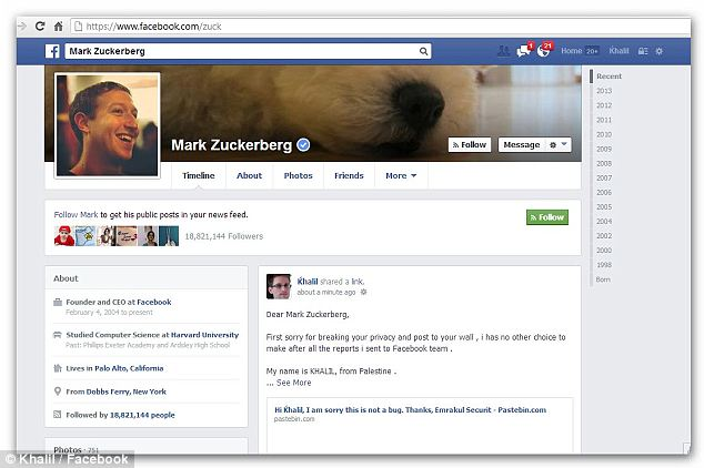 Facebook, Mark Zuckerberg, Facebook Hack