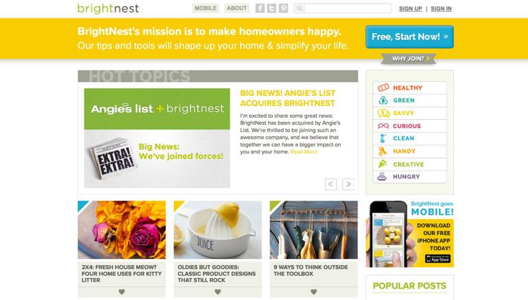 BrightNest, Denver startup, Angie's List, Indiana startup