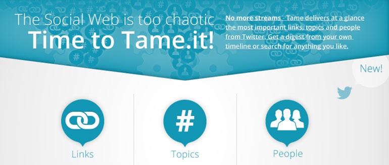 Tame, Berlin startup, tame.it, Twitter, social media startup