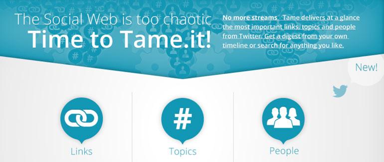 Tame, Berlin startup, tame.it, Twitter, social media startup