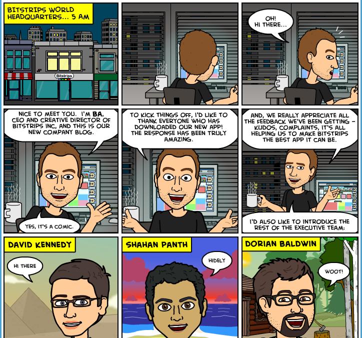 Bitstrips comic avatar app
