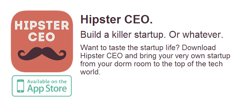 Hipster CEO