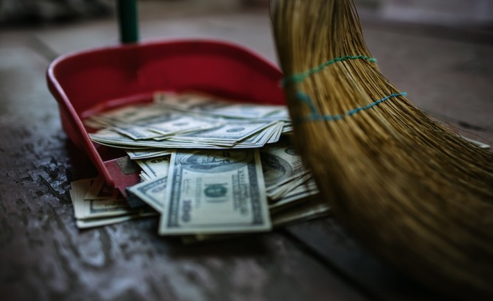 sweeping-up-money