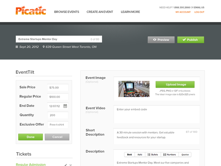 Picatic,EventTilt,Toronto startup,Canadian startup,startup,startups,crowdfunding